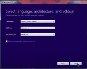 select language, edition & architecture