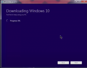 Downloading window 10
